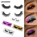 LEHUAMAO Mink Lashes 3D Mink False Eyelashes Long Lasting Lashes Natural Lightweight Mink Eyelashes Fluffy Dramatic Eye Makeup