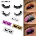 LEHUAMAO Mink Lashes 3D Mink False Eyelashes Long Lasting Lashes Natural Lightweight Mink Eyelashes Fluffy Dramatic Eye Makeup