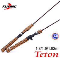 KUYING Teton UL Ultra light Soft Fishing Rod 1.8m 1.9m 1.92m Lure Carbon Casting Spinning Cane Pole FUJI Medium Action Trout
