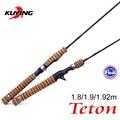 KUYING Teton UL Ultra-luz de pesca Rod 1,8 m 1,9 m 1,92 m atraer fundición de carbono girando caña polo FUJI medio de acción trucha