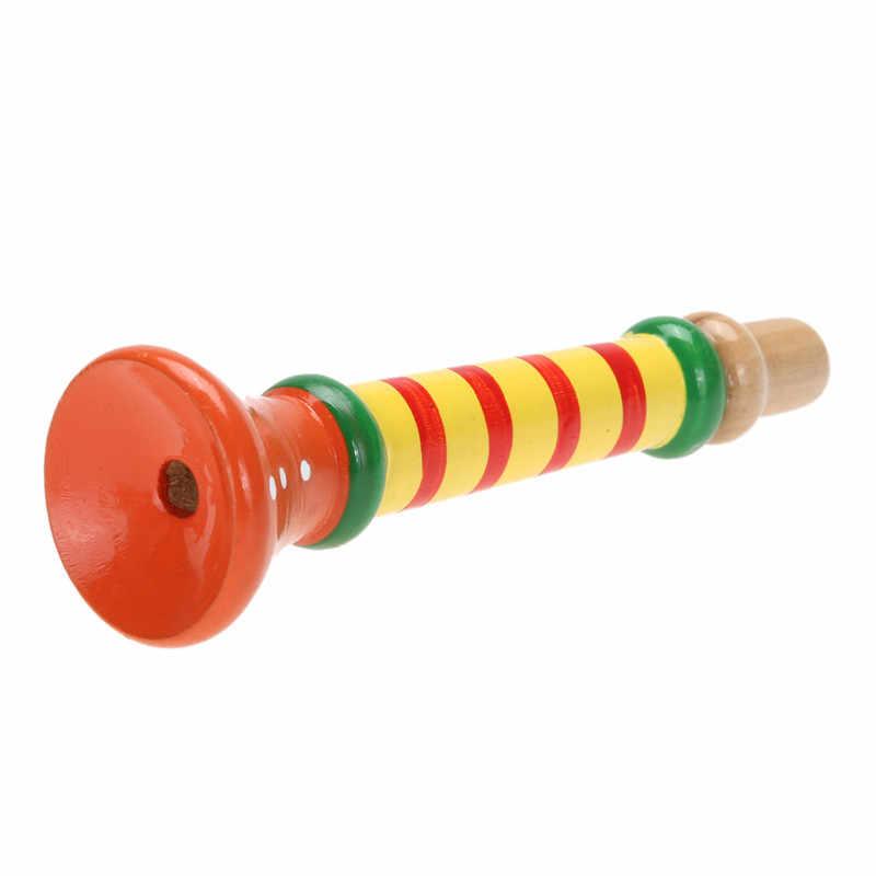2019 nova chegada multi-cor do bebê crianças chifre de madeira trompete instrumentos brinquedos de música diversão presente brinquedos para crianças