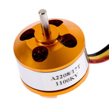 High Quality A2208 KV1100 Brushless Electric Motor for RC Fixed Wing 4-Axis Multicopter Toys Wholesale Free Shipping