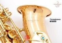 Japan YANAGISAWA A WO2 Alto Saxophone Gold Plated Eb Flat Alto Sax Professional Brass Instruments With