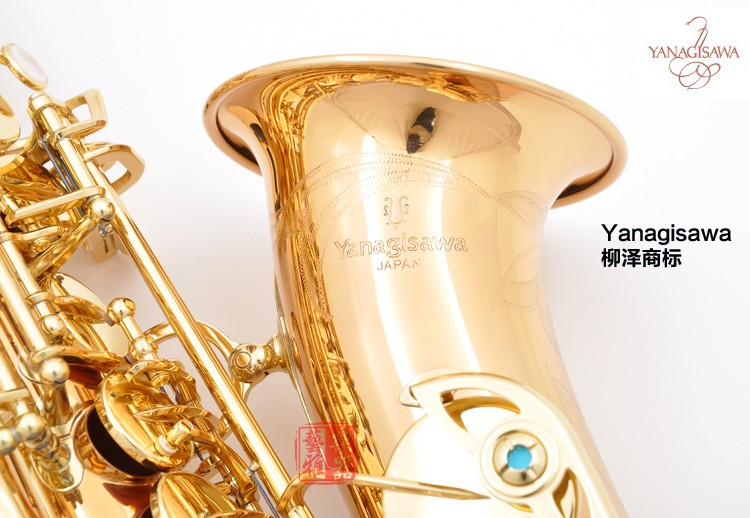 Japan YANAGISAWA A-WO2 Alto Saxophone Gold Plated Eb flat Sax Professional Brass Instruments with sax case,mouthpiece