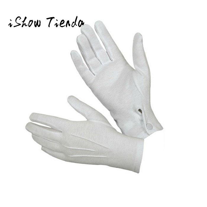 1Pair White Formal Gloves White Honor Guard Parade Santa Women Men Inspectio El