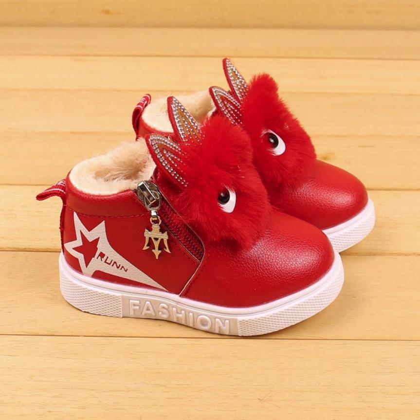 Children Fashion Cartoon Zipper Boots Boys Girls Sneaker Kids Winter Warm Baby Casual Shoes Tenis Infantil 3