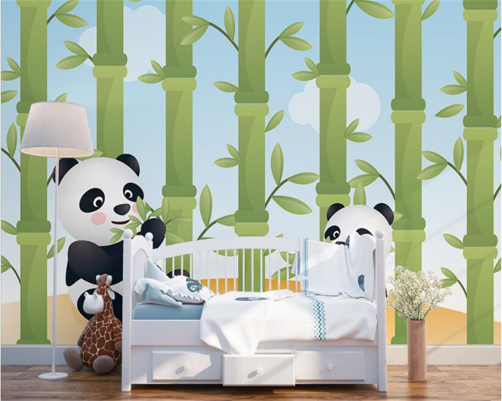 Beibehang high quality fashion wallpaper cute cartoon animals beibehang high quality fashion wallpaper cute cartoon animals panda eat bamboo children room backdrop papel de parede wall paper in wallpapers from home amipublicfo Image collections