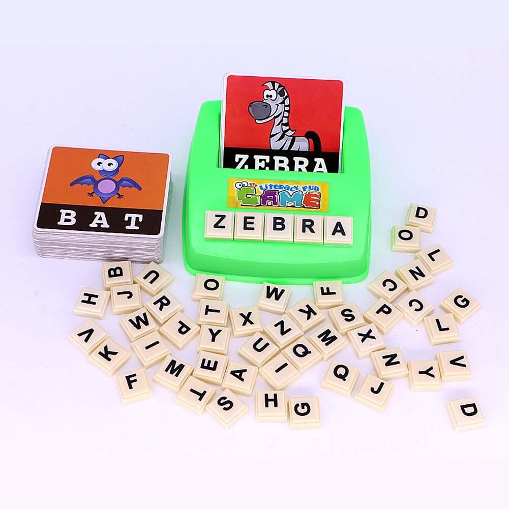 1 Stück Alphabet Buchstaben Abbildung Rechtschreibung Spiele Karten Englisch Wort Puzzle Pädagogisches Spielzeug Alphabetisierung Frühe Lernen Spielzeug