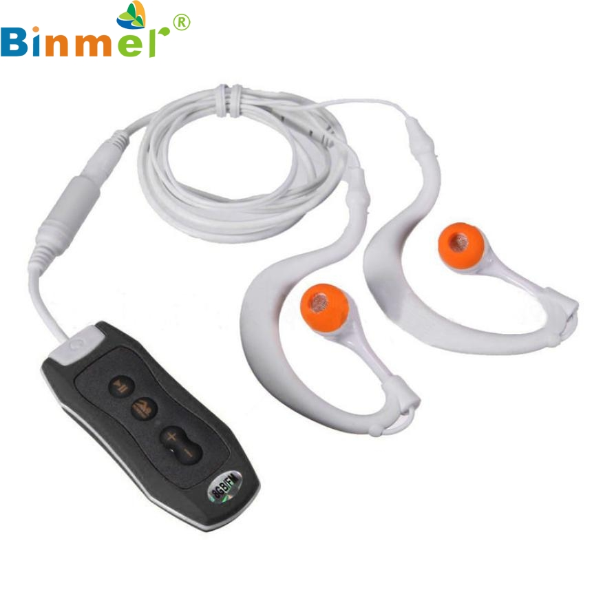 Top Quality New Sports 4GB Clip Waterproof IPX8 Mp3 Player FM Swimming Diving + Earphone Black JAN 27