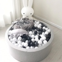 Baby soft ball pit kids fence with 7cm 100pcs balls Grey Round Play Pool Infant Ball Pool Playpen For Baby Tipi Kids Playground