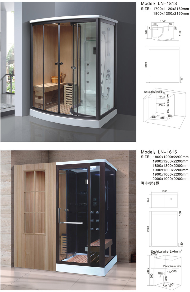 Us 1923 0 China Bathroom Steam Shower Room Sauna Combos Cabin On Aliexpress