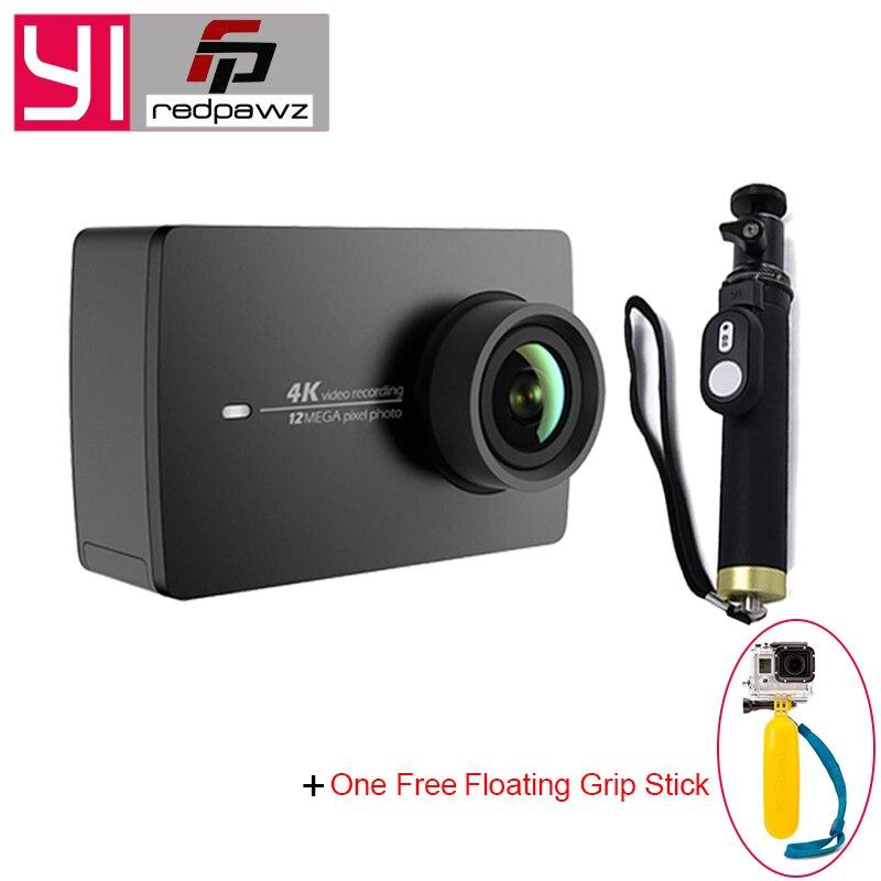 YI 4K Action Camera+One Selfistick Ambarella A9SE ARM 12MP CMOS 2.19