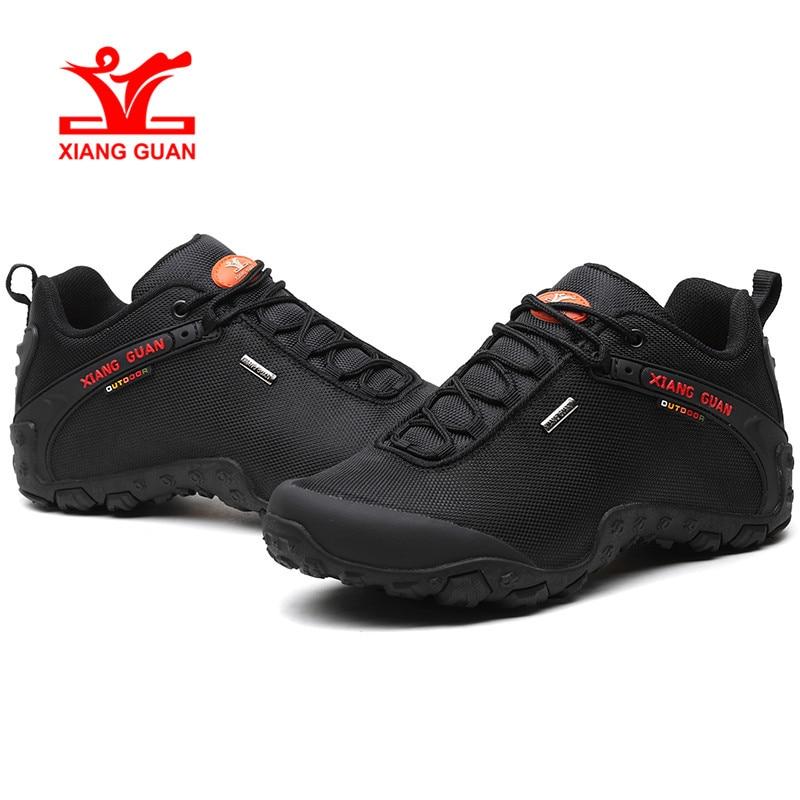 XIANG GUAN Camping en plein air hommes sport randonnée chaussures athlétique Trekking chaussures d'hiver noir mise à niveau Design nouveauté