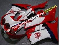 Лидер продаж, для Honda CBR250RR MC19 1988 1989 CBR250R CBR250 RR 88 89 красный сине белые мотоциклетный обтекатель abs (литья под давлением)