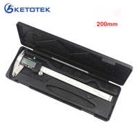 Digitale Sattel 200mm 8 inch Elektronische Edelstahl Messschieber 0,01mm Ruller Messung Gauge Mikrometer Diagnose-tool