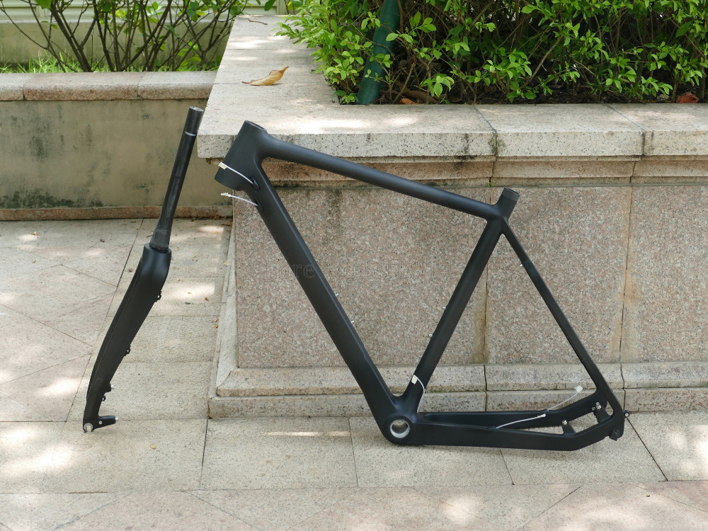 Carbon Cyclocross Cross-Bicycle Fork Bike Frameset-Included-Frame Toray Racing