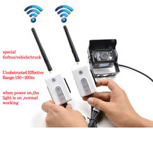 купить 2.4G Wireless AV Cable Transmitter and Receiver For RV Truck Trailer Bus  Video Monitor Truck Reversing Rear View Backup Camera дешево