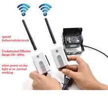 OTERLEEK Wireless AV Transmitter and Receiver For RV Truck Trailer Bus Video Monitor Truck Reversing Rear View Backup Camera