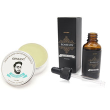 100% Natural Beard Balm Moustache Cream Beard Oil Set Conditioner Beard Balm Healthy Beard Styling Moustache Wax