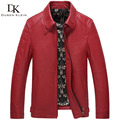 2017 New Brand leather Jacket male Slim Designer Genuine sheep skin casual leather coat Red/Black  61Z17002