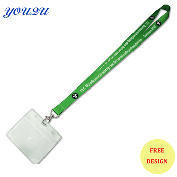 Lanyard with plastic ID cover lanyard with pvc id holder Lanyard ID holder escrow accept фото