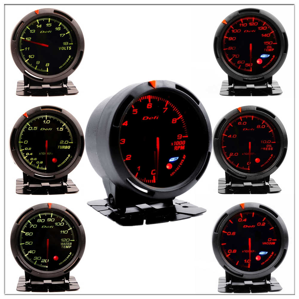 Defi Boost Gauge for باسات b5 b6 b8 بيجو 206 207 307 جولف 4 5 7 فورد focu 1 2 mk3 سبورتاج دفعة توربو ضغط متر 60 مللي متر