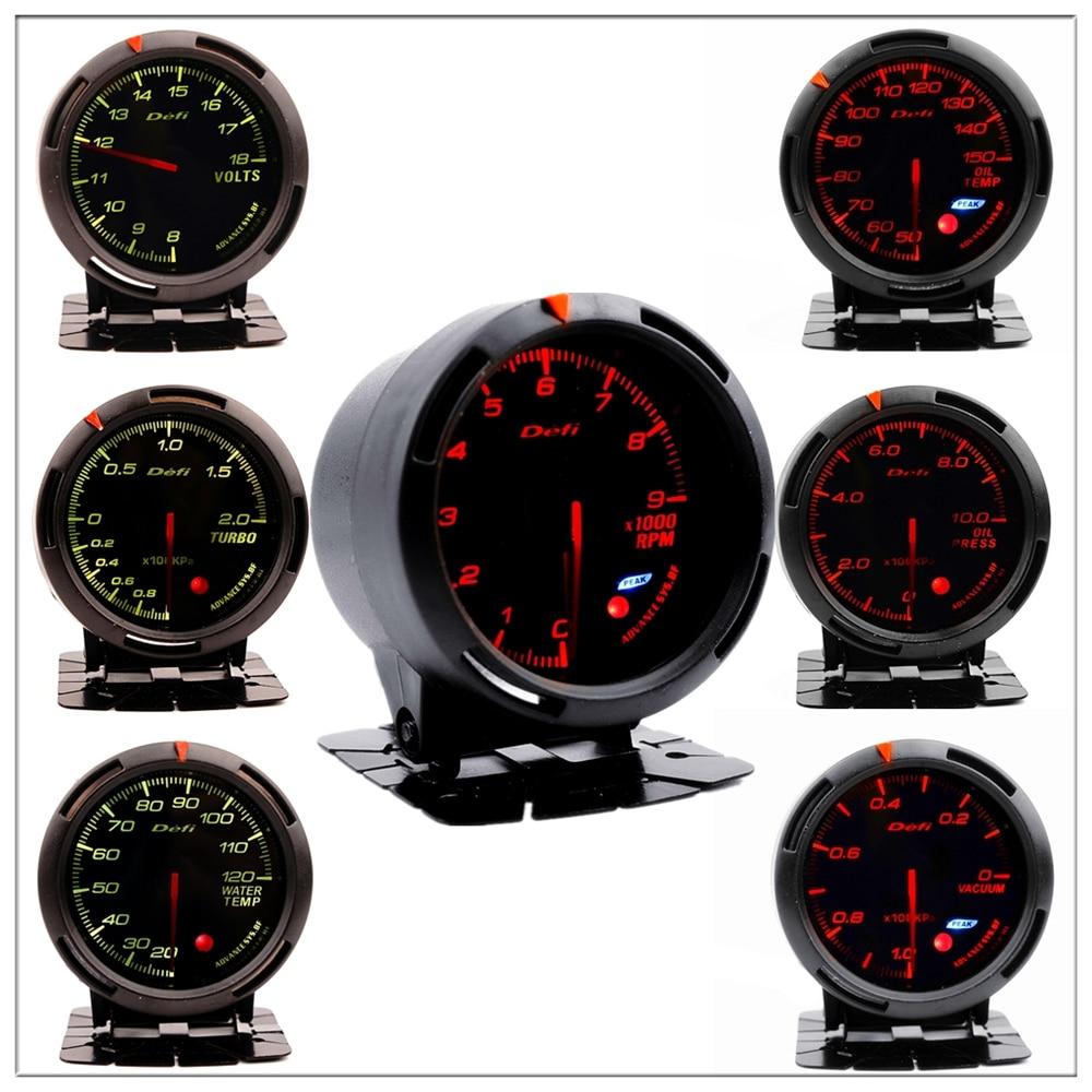 Defi Boost Gauge for passat b5 b6 b8 peugeot 206 207 307 golf 4 5 7 ford focu 1 2 mk3 sportage Boost turbo pressure Meter 60mm прибор для авто oem 1 2 2 boost