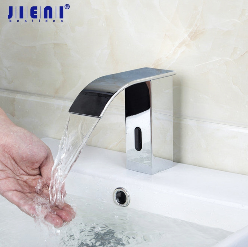 все цены на Bathroom Automatic Hands Touch Free Sensor Faucets Hot & Cold Basin Chrome Brass Sink Mixer Tap Faucets Mixers & Taps