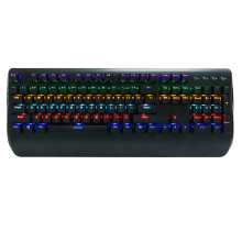 Real Mechanical Keyboard Wired USB Gaming Keyboards Backlit With 104 Keycaps Ergonomics illuminated For Gamers Computer цены онлайн