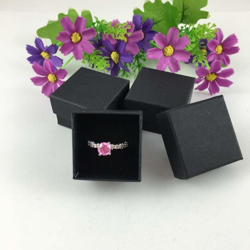24pcs 4x4x3cm Ring Storage Box Jewelry Organizer Holder Show Case Container Sponge Ring Storage Box Jewelry Display Box
