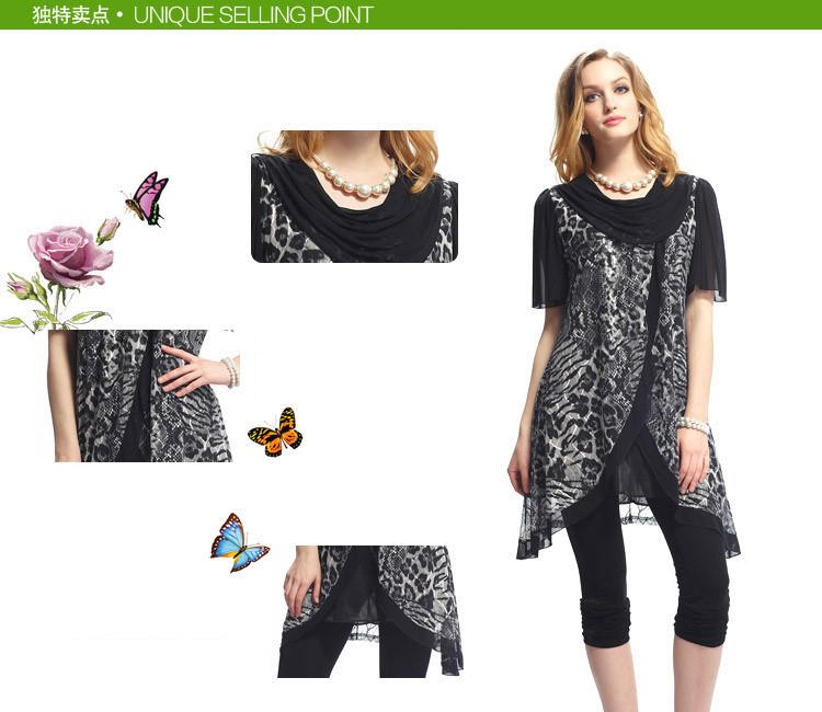 e4fa946087 Leopard Animal Print Summer Style Swing Dresses Women Plus size ...