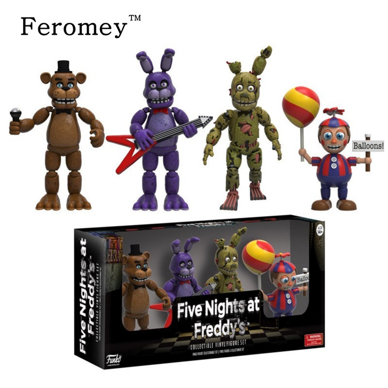 New Arrival Five Night At Freddy's FNAF Action Figures Toys Foxy Freddy FNAF PVC Figure Toys for Children Kids 5cm 12pcs set children kids toys gift mini figures toys little pet animal cat dog lps action figures
