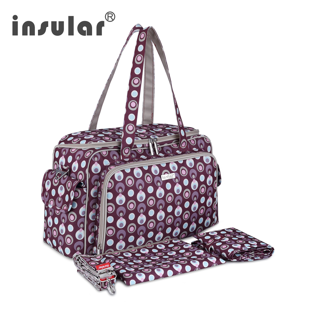 Insular Fashion Multifunctional Baby Diaper Bag Nappy Bag Mommy Bag Backpack Fashion Women Tote Bag