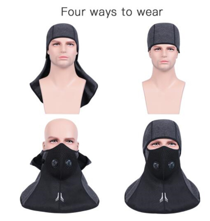 New Motorcycle Face Mask Winter Cap Fleece Thermal Keep Warm Windproof Bicycle Skiing Balaclava Headwear Bike Face Mask Scarf in Motorcycle Face Mask from Automobiles Motorcycles
