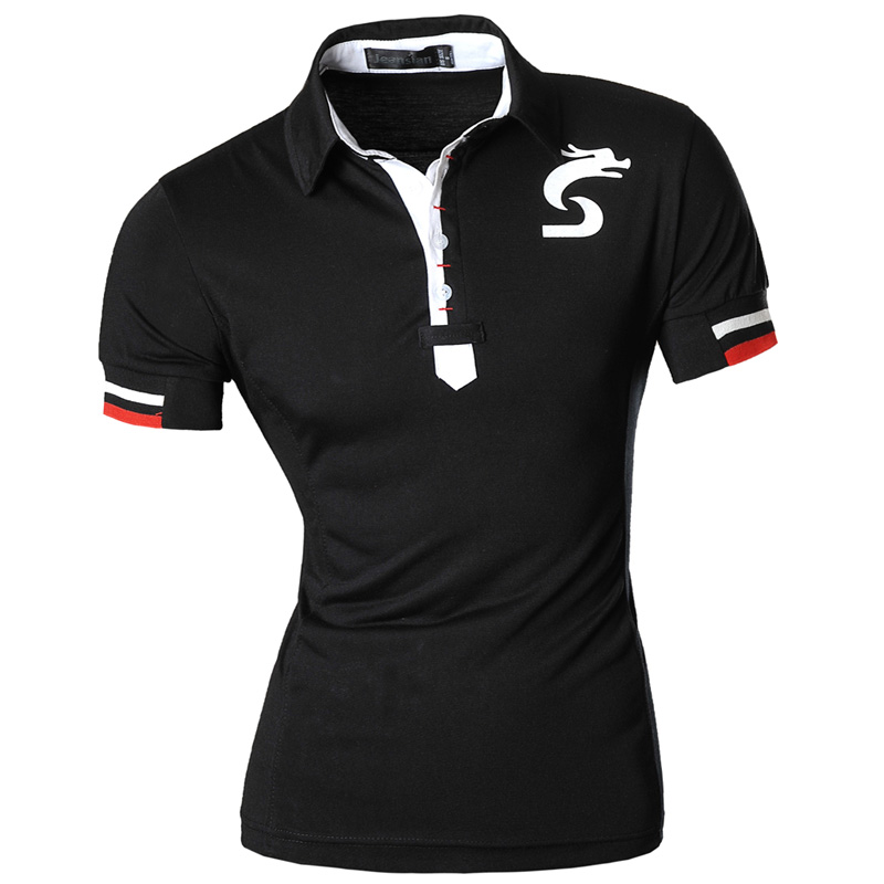 Mens 2019 Summer Fashion Casual   Polo   Short Sleeves Shirt Designed Shirt Slim Fit Trend Solid color 4 Colors S M L XL U007