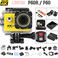 "Remote Sports Action camera F60 / F60R 4K WiFi 2.0"" 170D pro Helmet Extreme Cam underwater go waterproof Sport Camera Car Cam"