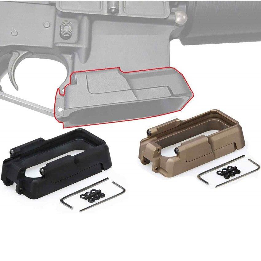 En Aluminium tactique Magwell Pour AEG GBB M4 AR-15 M16 OA-15 IPSC tir Grip Doigt Rainures Magazinrichter D'air Doux Magazine bien