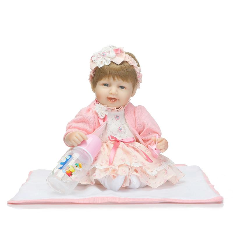 37CM Silicone Reborn Dolls Handmade Realistic Baby Doll 15 Inch Silicone Reborn Baby Alive Doll Toys for Girls Toy Gift Juguetes