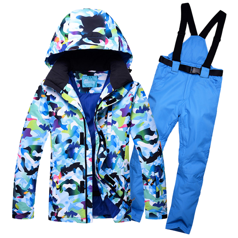 Windproof Mens Snow Jacket Winter Outerwear Hooded Ski Suit Waterproof Male Skiing Snowboarding Clothes Sets For Men Thermal men and women winter ski snowboarding climbing hiking trekking windproof waterproof warm hooded jacket coat outwear s m l xl