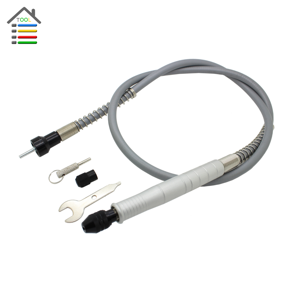 Universal 105cm Aluminum Flexible Flex Shaft with Keyless Chuck 1/8  Connector Electric Grinder for Dremel 3000 4000