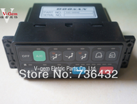 Free shipping! Best Doosan air conditioner control panel 543 00049 for Daewoo S220 5 225 V excavator/Daewoo Excavator parts