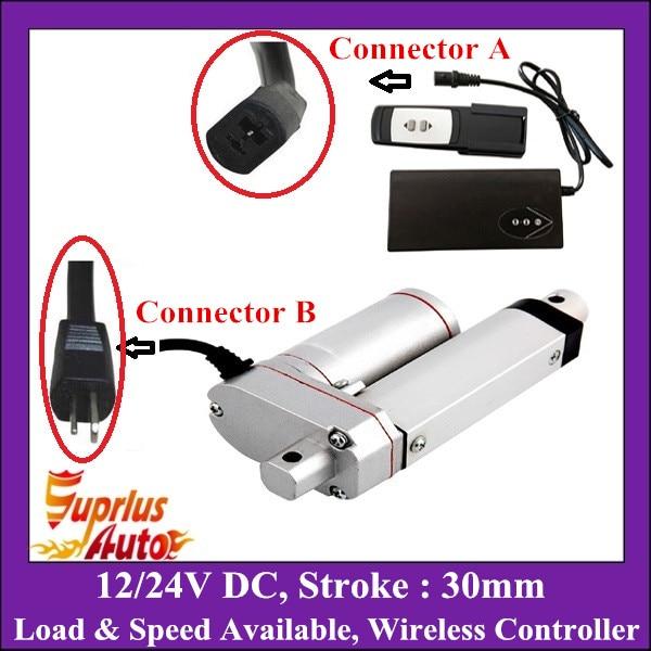 Imperméable à l'eau 12 V 24 V 30mm course avec télécommande sans fil industrie actionneur linéaire robuste capacité de charge disponible