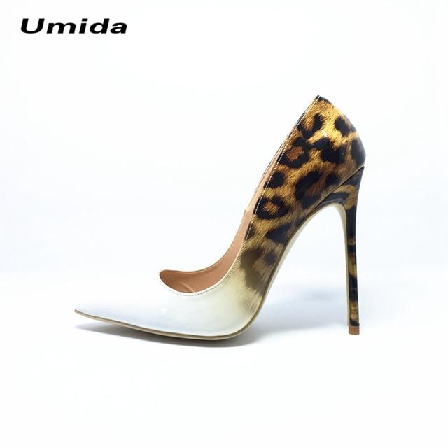 Умида Бренд Насосы Марки Женщин Насосы Обувь Женщина На Высоких Каблуках насосы Leopard Индивидуальные Женская Обувь Плюс Размер 33-44 Сексуальные Высокие каблуки