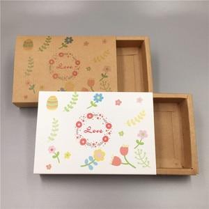 Image 2 - 새로운 핫 크래프트 종이 골판지 서랍 일치 포장 상자 웨딩 파티 사탕 상자 사랑 크리스마스 수제 선물 상자