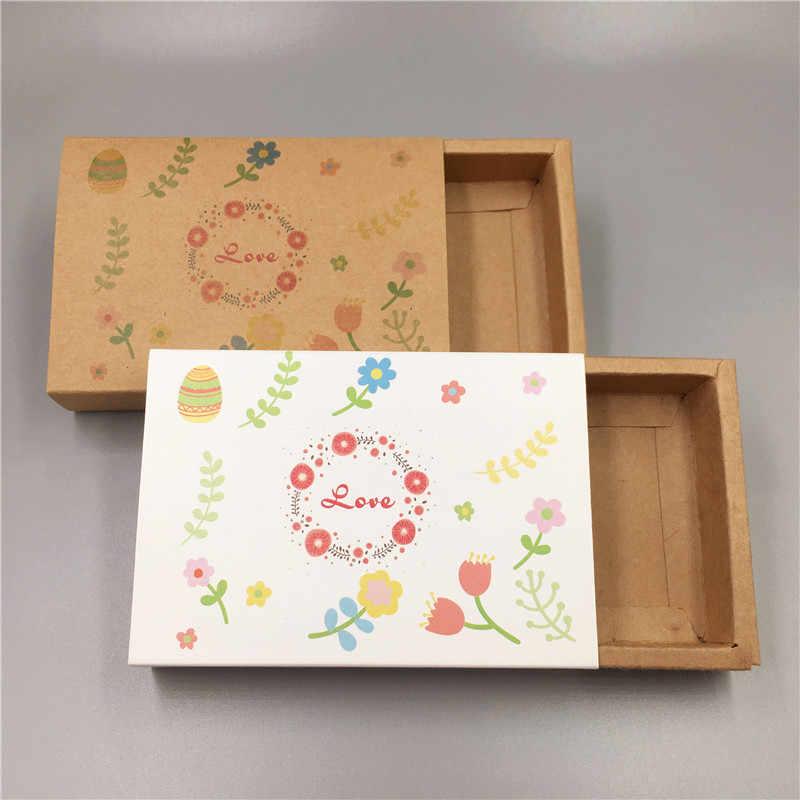 Baru Panas Kraft Kertas Kardus Laci Pertandingan Kotak Pesta Pernikahan Kotak Permen Cinta Natal Buatan Tangan Hadiah Kotak