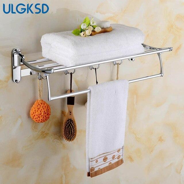Ulgksd Luxe Badkamer Accessoires Set Rvs Handdoek Hanger Badhanddoek ...