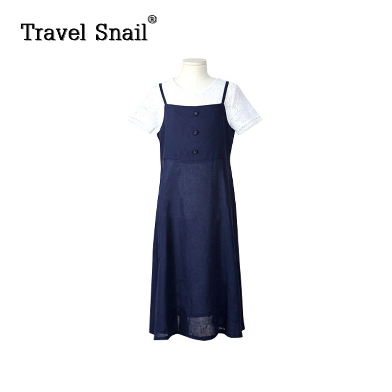 Travel snail 3-9 yrs girls t-shirts+dresses sets for children short tops kids customs of girls set solid cotton 2018 Summer New