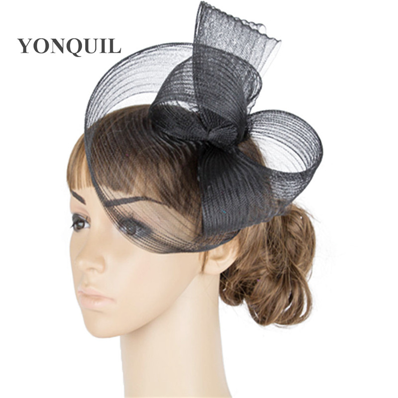 a42b887685c60 Envío Gratis beige y negro color Niza sombreros del coctel de los  accesorios del pelo del fascinator nupcial headwear partido sombreros  tocados MYQ052