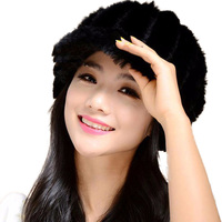Winter Mink Fur Hats For Women Genuine Mink Fur Russian Hat Pineapple Beanies Caps 2016 Hot