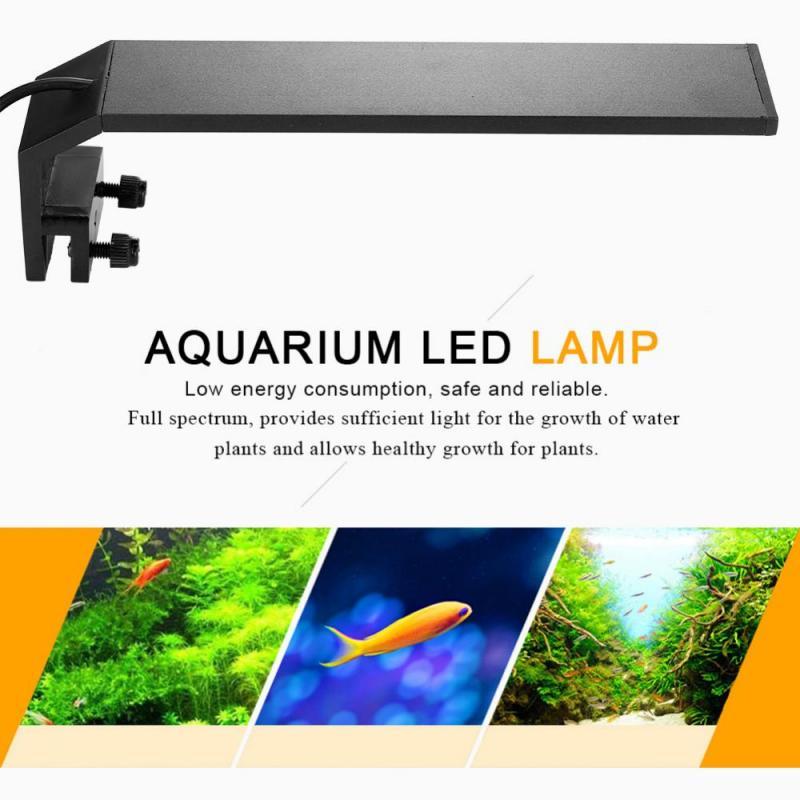 4 Types 110-240V LED Aquarium Clip Lamp Fish Tank Light Pool Underwater Plant Grow Light With Light Modulator